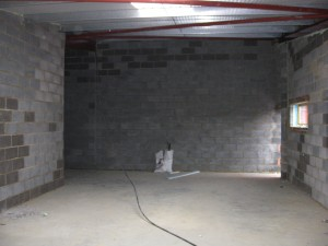 The new practice before the plasterers move in.
